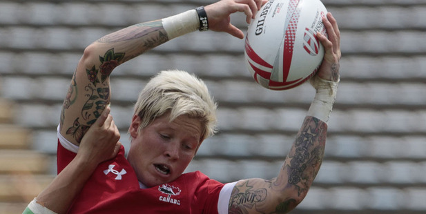 Jen Kish scored a stunning solo try. Photo / Getty