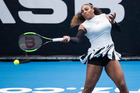 Serena Williams in first round ASB Classic action against Pauline Parmenter. Photo / Jason Oxenham