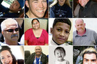 Some of the faces of those who lost their lives on the roads this holiday season.