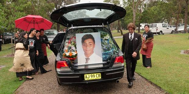 Tui Gallaher's funeral service. Photo / Supplied