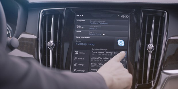 Volvo is offering Skype in its semi-autonomous vehicles. Photo / Supplied