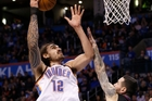 Steven Adams is making the most of the opportunity created by Kevin Durant's move. Photo / AP