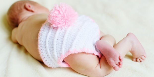 Baby Ella is the first baby born in New Zealand in 2017. Photo (not Ella) / 123RF