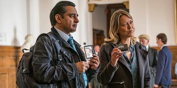 Sanjeev Bhaskar and Nicola Walker in Chris Lang's television series, Unforgotten.