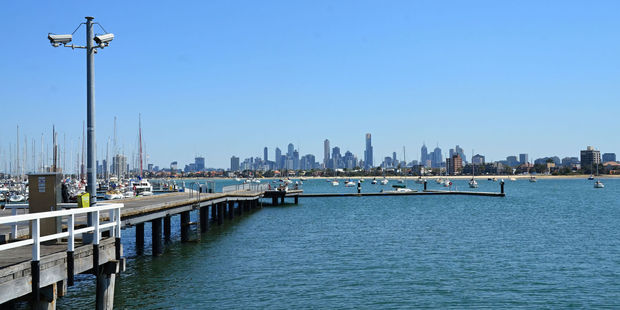 Views of Port Phillip Bay in Melbourne, where waste has washed into the bay. Photo / 123RF