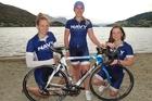 Lauren Meyer (left), Caitlin Williams and Sarah Freeman hope to raise $7000 for a treadmill. Photo / Guy Williams