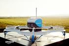 An Amazon Prime Air drone in Cambridgeshire, Britain. Photo / AP