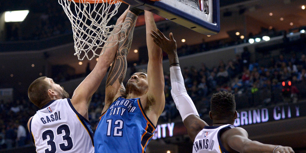 A  trip to the Chesapeake Energy Arena to see Steven Adams in action has to be near the top of a Kiwi sports fan's bucket list. Photo / AP