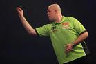Dutch dart player Michael van Gerwen in action. Photo / AP