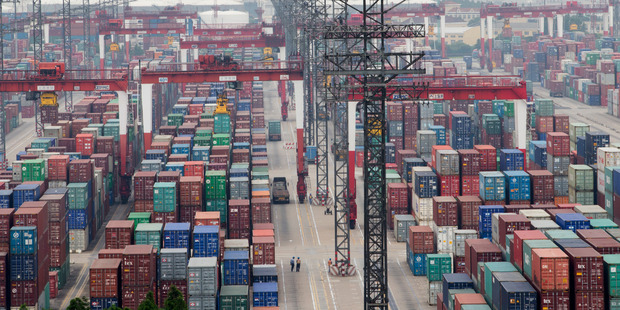 Thousands of shipping containers at the Shanghai Pudong International Container terminal in Shanghai, China. Photo / Mark Mitchell