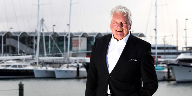 Businessman and hairdresser Rodney Wayne pictured at his office in Auckland's Viaduct Harbour. Photo/Chris Gorman