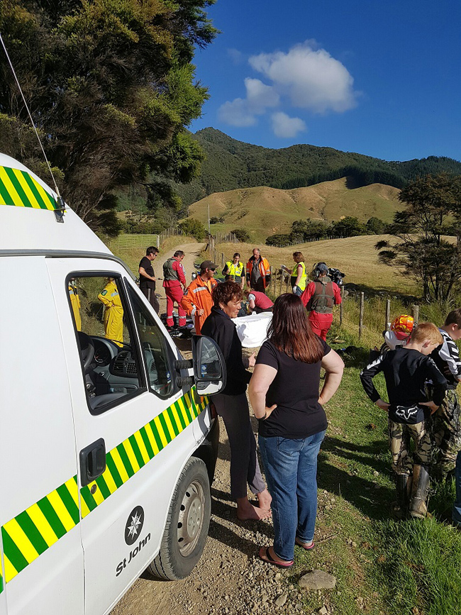 The scene of the accident at Colville. Photo / Supplied