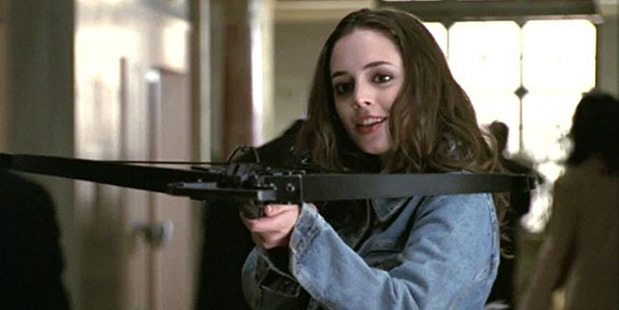 Eliza Dushku as Faith in the TV series, Buffy the Vampire Slayer.