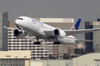 A Boeing 787 Dreamliner operated by United Airlines takes off at Los Angeles International Airport. Photo / Getty