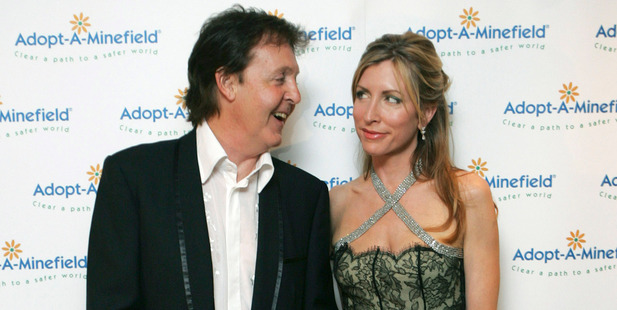 Sir Paul McCartney and Lady Heather Mills McCartney pictured, 2005. Photo / Getty Images