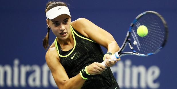 Ana Konjuh returns a shot to Agnieszka Radwanska during the 2016 US Open. Photo / Getty Images