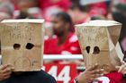 San Francisco 49ers fans express their dissatisfaction during a loss to the New Orleans Saints. Photo / Getty Images