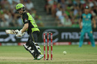 Eion Morgan of the Thunder hit a six off the final ball to win. Photo / Getty