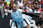 Serena Williams during her match against Pauline Parmentier at the ASB Classic. Photo / Getty Images