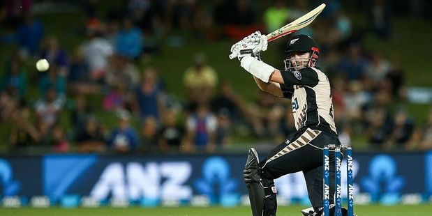 Loading Kane Williamson bats during the first Twenty20 match between New Zealand and Bangladesh. Photo / Getty Images