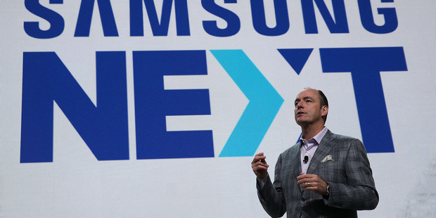 Tim Baxter, president Samsung Electronics America, speaks during CES 2017. Photo / Getty Images