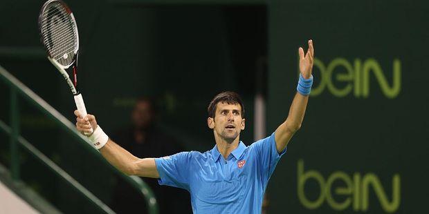Novak Djokovic in action against Fernando Verdasco. Photo / Getty Images