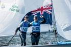 Polly Powrie (right) and Jo Aleh in Rio.