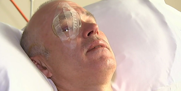 Dunedin's Wayne Boss was watching the council-run display when he was hit in the right eye and knocked to the ground.