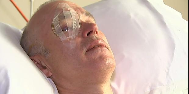 Wayne Boss in a Dunedin hospital.