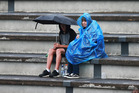 Rain stops play at the ASB Classic tennis, where fans are waiting for the first appearance of Serena Williams. Photo / Doug Sherring