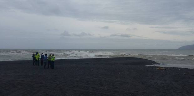 The man was believed to have been near the river-mouth when he was swept into the ocean. Photo / Wairarapa Times Age