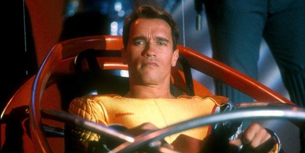 Arnold Scwarzenegger in The Running Man. Photo / Supplied