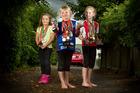 FUN: Emmie Kostrewa, 5, Marie Kostrewa, 7 and Sofie Kostrewa, 8, enjoy running, hiking and racing alongside their parents Martin and Beike. PHOTO/BEN FRASER