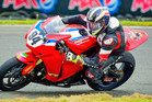 IN FORM: Whakatane's Mitch Rees (Honda CBR1000RR) is one of the men to watch out for in the superbike class this season. PHOTO: Andy McGechan