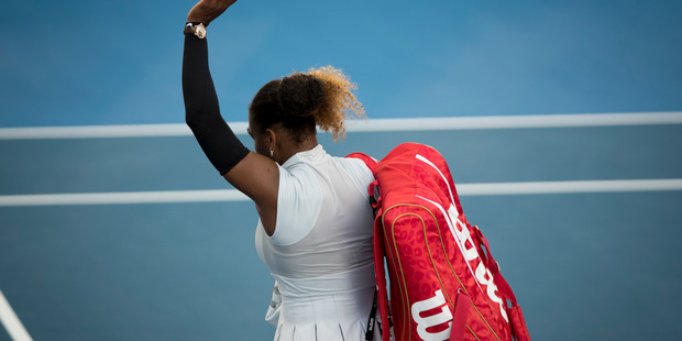 Loading Serena Williams leaves the court after her loss to Madison Brengle. Photo / Dean Purcell