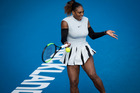 Serena Williams in action against Madison Brengle. Photo / Dean Purcell