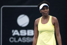 Venus Williams in action against New Zealander Jade Lewis at the ASB Classic. Photo / Nick Reed