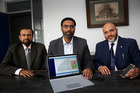 Health App architects (from left): Imran Zafar, Muhammad Awan and Moazzam Zaidi. Wanganui Chronicle photograph by Bevan Conley.