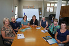 HUMBLED: Kathy Cane (left), Kim Shearer, Annabell Lane, Karen Barker, Sarah McKnight, Sara Field and Yvonne Hathaway from Empowered Learning Trust are nominated in Mitre10 NZ Community of the Year Award.
