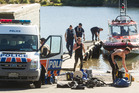 SEARCH: Police divers are back in the water today. PHOTO/STEPHEN PARKER