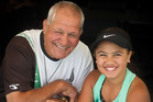 Dinny Mohi, 77, and Zeeah Rona Waerea-Tamai, 10, both celebrated triple title wins at the recent Aotearoa Maori Tennis Championships. PHOTO/STEPHEN PARKER