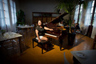 MUSIC: Blue Baths' managing director Jo Romanes with the piano at The Social Room. PHOTO/STEPHEN PARKER