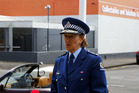 Superintendent Sue Schwalger outside the Whanganui Police Station today. PHOTO NATALIE SIXTUS