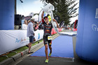 Braden Currie shows his emotion as he sets a new course record at the Port of Tauranga Half. PHOTO:ANDREW WARNER