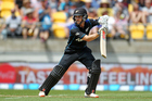 Kane Williamson already batting his way the man-of-the-match ladder. Photo / Photosport.nz
