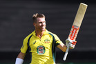 Australian opening batsman David Warner. Photo / Photosport