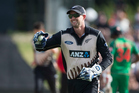 New Black Caps batsman Tom Bruce enjoyed his role as an emergency wicket-keeper. Photo / photosport.nz