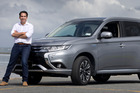 Simon Bridges says his Mitsubishi Outlander PHEV is peppy while giving great fuel savings. Photo / Alan Gibson