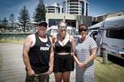 MOUNT CAMPGROUND: Happy Campers Brian Hayes, Nicki Hayes (daughter) and Renee Hayes. PHOTO/Andrew Warner