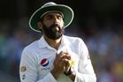 Pakistan's Misbah Ul Haq takes a catch. Photo / AP